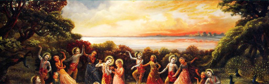"""""""Todėl tiesą regi tas, kuris garbina materialaus pavidalo neturinčio Aukščiausiojo Dievo Asmens Višnu transcedentinį garso įvaizdį.""""Šrimad - Bhagavatam (1.5.38)"""